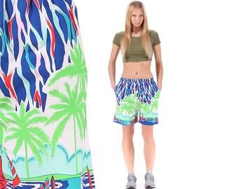 Volleyball Beach Shorts 90s JOGGER Shorts Track Blue Green Atheletic Activewear Summer 90s Basketball Hip Hop Stretchy Medium