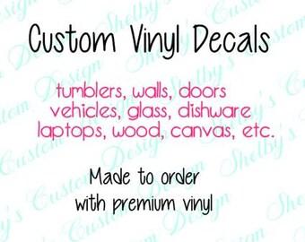 Custom Heat Transfer Personalized Shirts DIY Shirts Iron On - Custom vinyl decals lettering for shirts