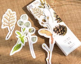 30 Pieces Plants Cut Outs - Bookmarks/Gift Tags/Scrapbooking Supplies