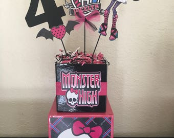 Monster High Inspired Centerpieces, Monster High Party decorations, Monster High party, Monster High party supplies, Monster High