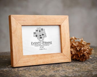 Alder wood picture frame – chose your size 4x4 5x5 6x6 4x6 5x7 6x8 inch – wooden picture frame - table décor - hardwood frame - EVENTFRAME