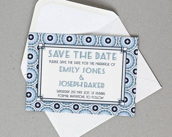 Retro Wedding Save the Date Personalised