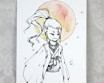 Inktober Samurai Vagabond - A5