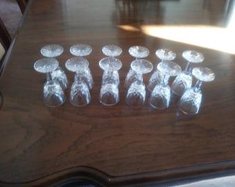 Vintage Lismore waterford cordial glasses