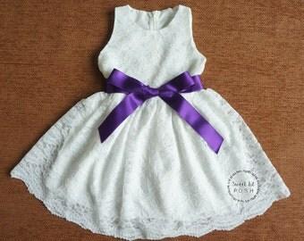 Lace flower girl dress – Etsy