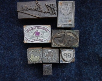 Job Lot, Letterpress Printing Blocks, Advertising Letterpress Blocks, Letterpress Lot
