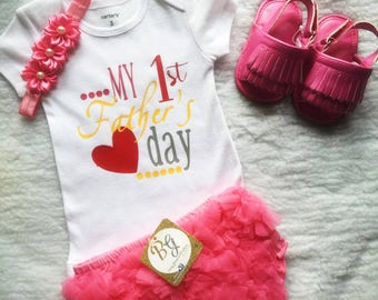 Free Shipping,First Fathers Day,Papa,Daddy,Dad,Outfit,Baby,Princess,Gift,Onesies,Outfit,Clothes,Skirt