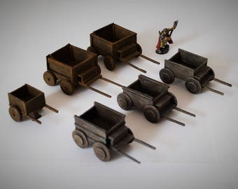 Wagons and Cart for Dungeons and Dragons and War Games