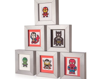 Superhero Cross Stitch Frames