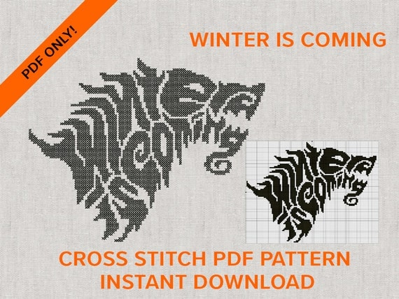 Winter is Coming Cross Stitch PDF only for instant download