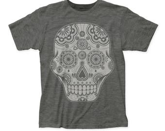 Impact Originals Sugar Skull Tee (IMP76) Heather Charcoal