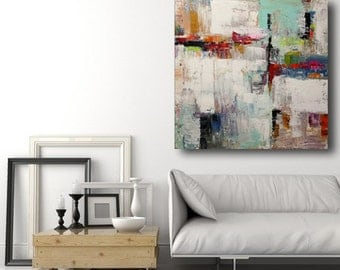 Large abstract paintings by spatula made to order