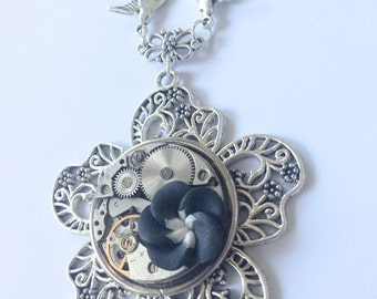 """Necklace """"Black and white"""""""