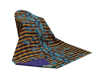 Vintage Kantha Throw Indian Cotton Sari Reversible Patchwork Quilt
