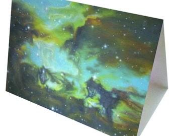 Magellan's Horse Nebula - Greeting Card