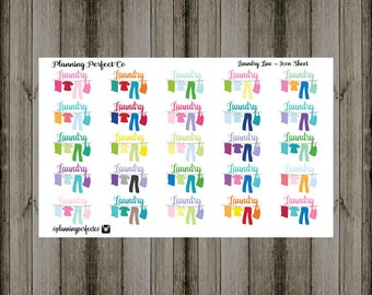 Laundry Line Icon Sheet