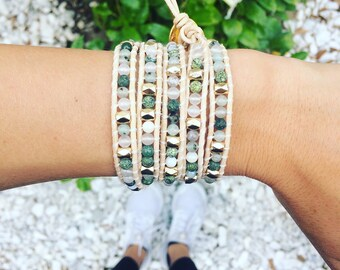 Evergreen Wrap Bracelet