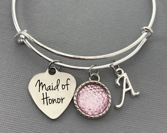 Maid of Honor Gift - Maid of Honor Proposal -  Pink Wedding Jewelry - Wedding -Maid of Honor bracelet - Maid of Honor Jewelry