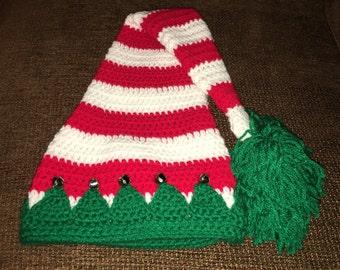 Elf Crochet Hat with Bells
