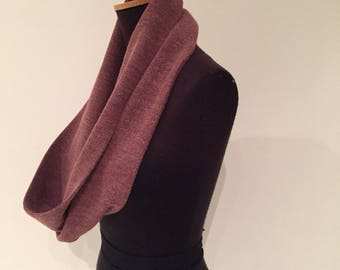 Crushed Grape infinity scarf 110cm full loop