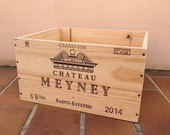 French Original Wine Crate Bottle MENEY 2703201715