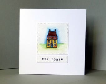 new home card, moving house, handmade card, new house card, moving card, housewarming card