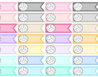 Volleyball Planner Stickers | Planner Stickers, Sports Planner Stickers