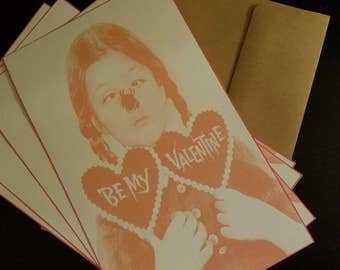 Be My Valentine Wednesday Addams note card set of 4