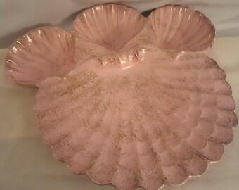 Rare 1950s American Bisque Relish Platter