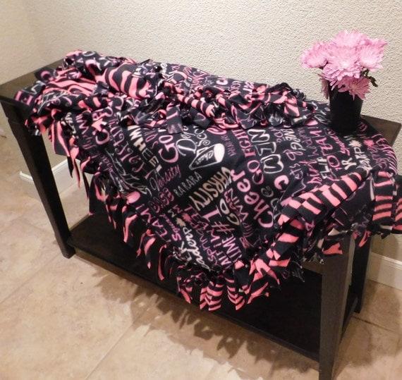 on sale cheer spirit tie fleece blanket throw. Black Bedroom Furniture Sets. Home Design Ideas