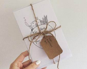 Hand-illustrated cards    2 pack