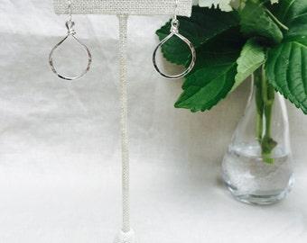 small teardrop hoops
