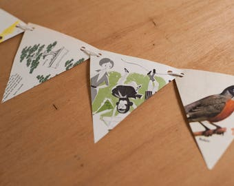 Recycled Paper Pennant Banner Kit