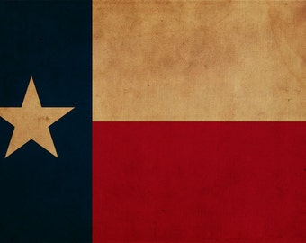 Vintage Texas Flag on Canvas, Texas, Flag, Wall Art, Texas Photo, Texas Print, Giclee, Fine Art, Lonestar Flag, Single or Multiple Panels
