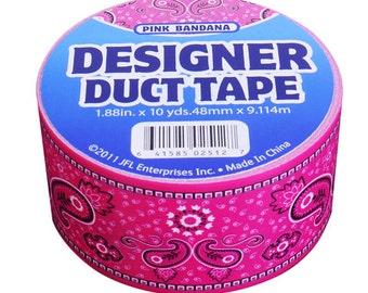 Duct Tape - Pink Bandana - 10 yards