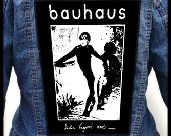 BAUHAUS - Bela Lugosi's dead ---Backpatch Back Patch / Tones on Tail Clan of Xymox Cocteau Twins New Order Dead Can Dance Christian Death