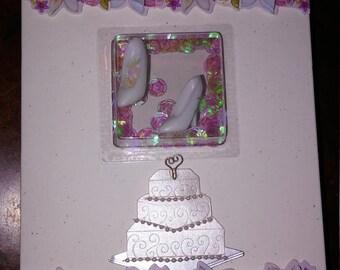 Handmade Shaker Greeting Card- Wedding/Engagement - Blank