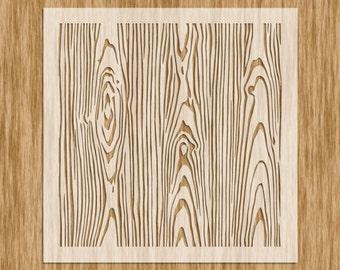 N0104M - Wood Grain Pattern Stencil MINI SERIES