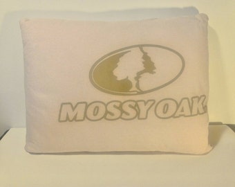 Pink mossy oak pillow