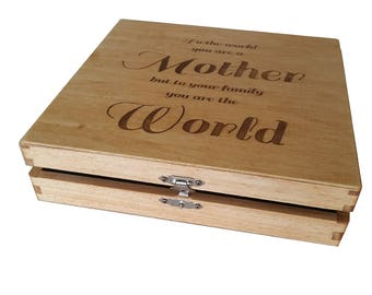 Mother's Day Gift - Keepsake Box For Mother - Mom gift - Mom Birthday Gift