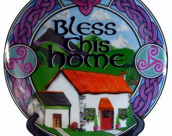 Irish 'Bless This Home' Decorative Plate (10cm)