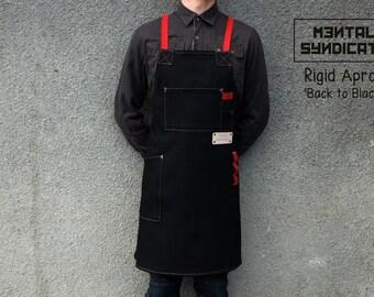"Rigid Apron ""Back to Black"" Light Weight Canvas Apron /Barista Apron/Bartender Apron/Chef Apron/"
