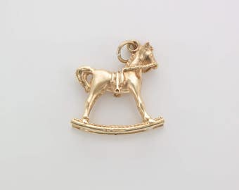 Vintage 9ct Gold Rocking Horse Charm