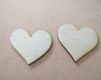 Wooden hearts (50 hearts)