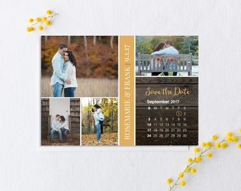 Save the Date Magnet (Printed), Calendar Save the Date, Save the Date photo magnet