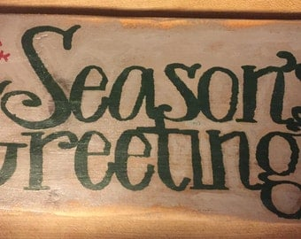 handmade country  wooden sign for Christmas-holiday
