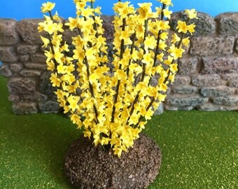 Dollhouse Miniature Forsythia Bush Artist Made