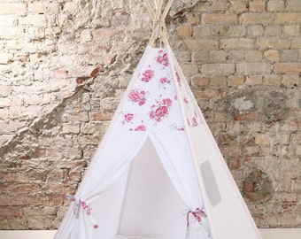 Childrens teepee, playtent, tipi, zelt, wigwam, kids teepee, tent, play teepee, wigwam with mat