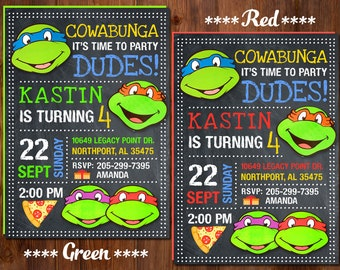 Ninja turtles party Etsy