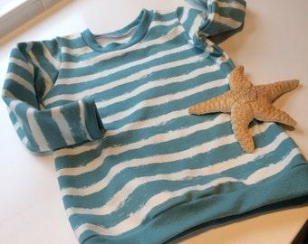 Beach Sweater, Organic Jersey, Stillwater Stripes